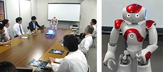 Aldebaran社 ヒューマノイドロボット「NAO」を囲んで